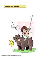 Hetalia doujinshi Lovino and the Bear 15 by mitssuki