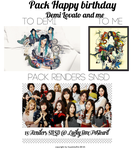 [Pack] Happy birthday to Demi Lovato and me by huyetniufire