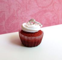 Red Velvet Cupcake Charm by LittleSweetDreams