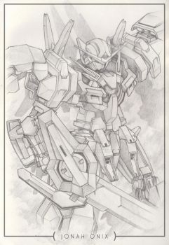 Art Sketch: Avalanche Exia by jonah-onix