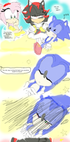 sonic learns to swim! by bunniebread