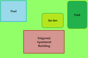 Map of Saigyouji Apartment Building - Outsides by TheYamiClaxia