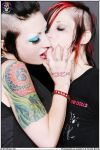 Deathrock Kiss - Domiana and Kat