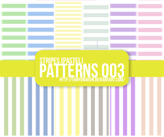 Pattern 003 - Stripes (Pastel) by fanydragon