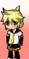 kagamine len_chibi colored by NatsuPi