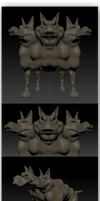 3D Cerberus by fragmeister