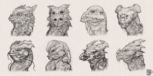 dragon head sketches by tsad