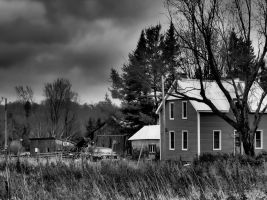 In the Country (B+W) by CiacoAgain