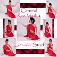 Carnival Red Mask 1 Exclusive by WhiteWing-Stock-EtAl