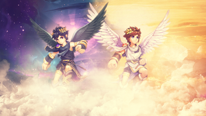 Kid Icarus Dark Pit and Pit Wallpaper by Fatal-Nostalgia