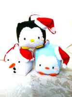 Christmas Ornament Set by PinkChocolate14