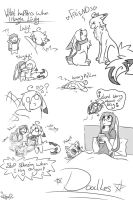 cheer up Doodles by lazyfoxxx