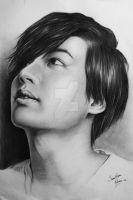 Lee Min-Ho portrait pencil by SaraMeloni