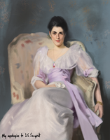 Master study - J.S. Sargent, Lady Agnew by Setael