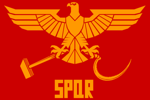 Soviet Roman Flag by Domain-of-the-Public