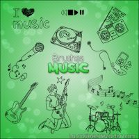 Pack de brushes Music by LauraClover