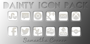Dainty Icon Pack/Apex Theme by sammyycakess