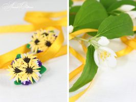 Bouquet of sunflowers by OrionaJewelry