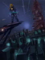 Painted Cityscape WIP by ZEroePHYRt