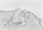 Rainbow Dash and Applejack in the grass by RD-Brony