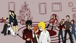 SPaVES xmas party - Rhed Moon and Bushidou by samuRAI-same