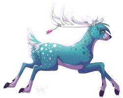 Art Trade - be blue deer by Kocurzyca