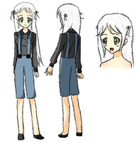 Adopted White Hair Girl by TrainerHarmony