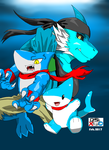 Vress Shark Trio 2 - Colored by DSxpo