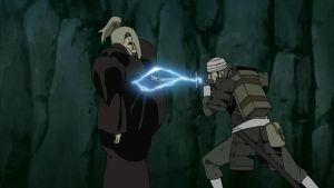 Mifune stabbed Deidara to disable clay by TheBoar
