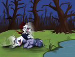 :collab: Lost in the woods. by WhiteNoiseGhost