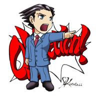 Phoenix Wright stickers-Nick by StudioKawaii