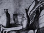 charcoal still Life by whendt