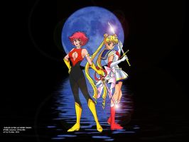 Cutie Honey and Sailor Moon by FaGian