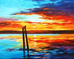 Swansea Sunset by artsaus