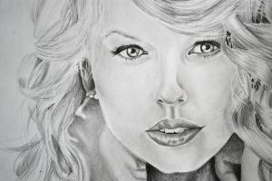 Taylor Swift Drawing by EQzazart
