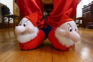 Grumpy slippers, front by ExileLink