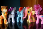 Re-Styled Mane 6 (minus Twilight) by ShannonInWonderland