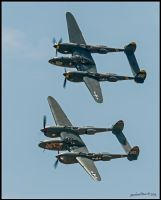 P-38s by AirshowDave