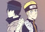 Sasuke and Naruto - The last by Lilak-rain