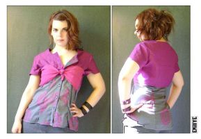 Blouse rose mauve by Emillye