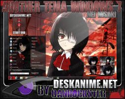 Mei Misaki Theme Windows 7 by Danrockster
