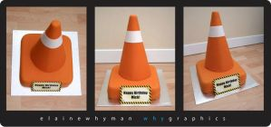 Traffic Cone Cake by elainewhy