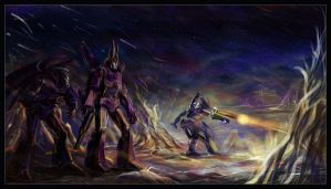 Galvatron destroys Torkulon by darefi