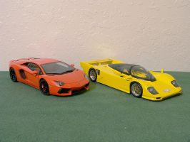 Lamborghini and Dauer by Venom800TT
