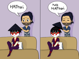 Hattori is not amused by vivienegg