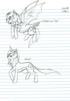 Love Flight and Clover sketches by Dinoboy134