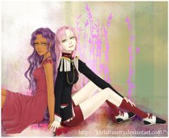 Tenjou Utena and Himemia Anthy by KarlaFrazetty