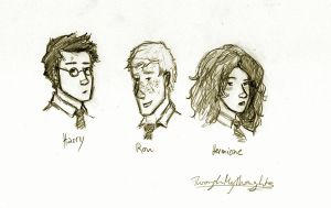 Harry Ron Hermione by ThroughMyThoughts