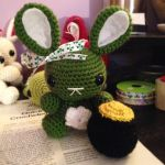 St Pattys Day Bunny by theyarnbunny