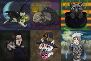 CLOSED Last Halloween PUPS by NatsumeWolf